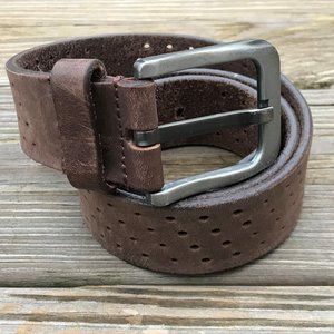 Men Belt Brown Genuine Leather Waistband 29-30